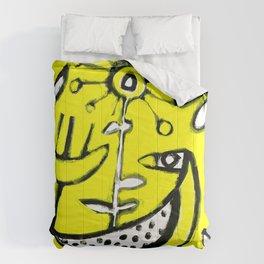 Sunlit Mid-Century Bird Comforters