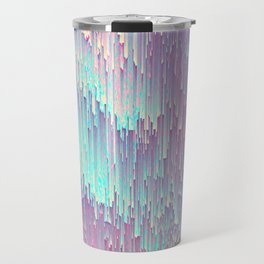 Iridescent Glitches Travel Mug