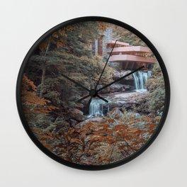 Fallingwater House by Frank Lloyd Wright Wall Clock