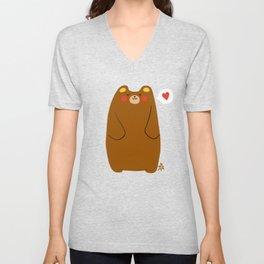Bear heart for you Unisex V-Neck