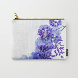 Wisteria on white. Carry-All Pouch