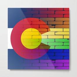 Gay Rainbow Wall Colorado Flag Metal Print