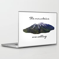 the mountains are calling Laptop & iPad Skins featuring The mountains are calling by Jess Paige B