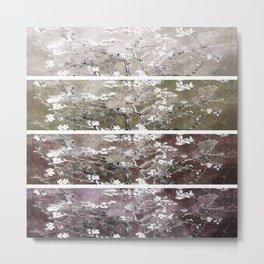 Vincent Van Gogh Almond Blossoms Brown Beige Panel Metal Print