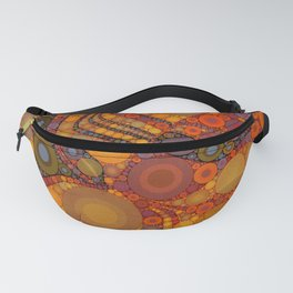 NOMAD an intricate design of orange and gold dots Fanny Pack