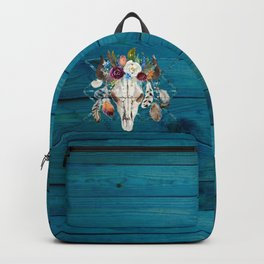 Rustic Glam Boho Chic in Teal Backpack