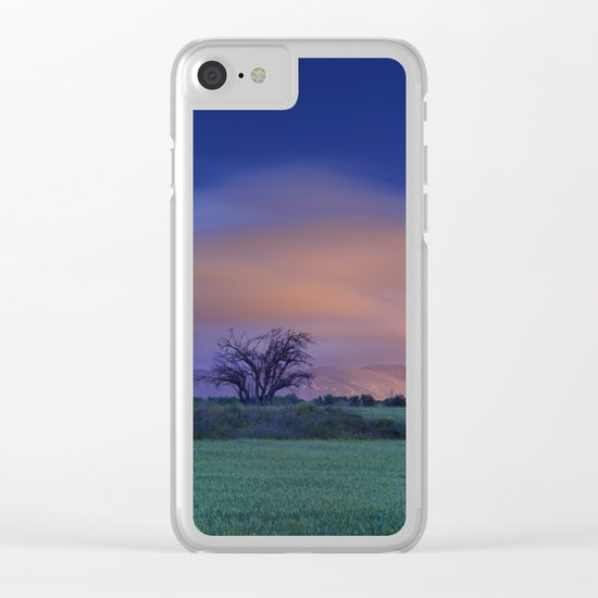 """Blue night"" Clear iPhone Case"