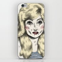dolly parton iPhone & iPod Skins featuring Dolly by Sarah McNeil