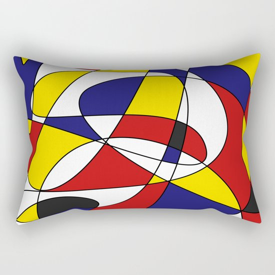MONDRIAN AND GAUSS Rectangular Pillow