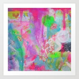 Pastel Waterfall Art Print