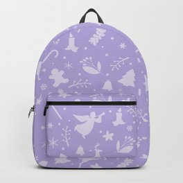 Purple Christmas pattern Backpack