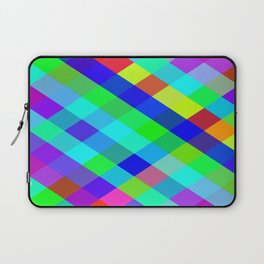 Checkered Colour - Geometric, Colour, Checkered Pattern Laptop Sleeve