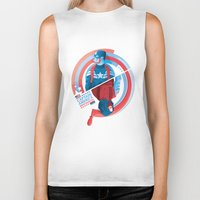 the winter soldier Biker Tanks featuring The Winter Soldier by Florey
