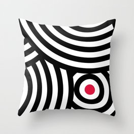 Cropped Roundels Throw Pillow
