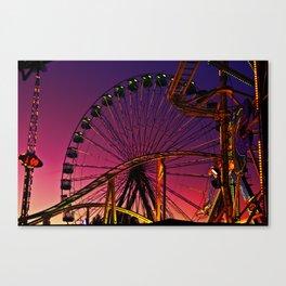 Sunset in the fair Canvas Print