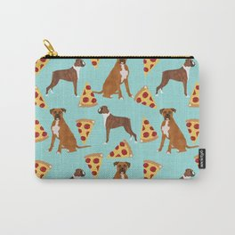 Boxer dog pattern pizza dog lover pet portraits boxers dog breed by pet friendly Carry-All Pouch