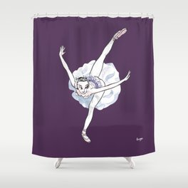 WhiteSwan CoolNoodle Shower Curtain