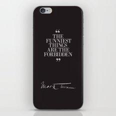 Mark Twain Quote with Original Signature iPhone & iPod Skin