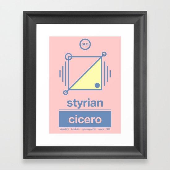 styrian cicero single hop Framed Art Print