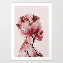 Maid of Flowers Art Print