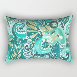 MONKEY TRICKSTER - JADE Rectangular Pillow