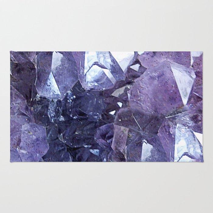 Amethyst Crystal Cluster Rug