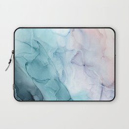Beachy Pastel Flowing Ombre Abstract Laptop Sleeve