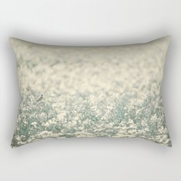Alone in the canola field Rectangular Pillow