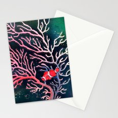 Clownfish and Coral Stationery Cards