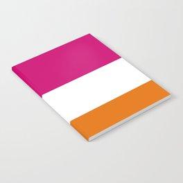 Tri-Color [Pink, White, Orange] Notebook