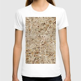 Las Vegas City Street Map T-shirt