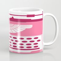 typewriter Mugs featuring Typewriter by Debra Ulrich