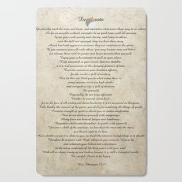 Desiderata Poem By Max Ehrmann Nr. 1001 Cutting Board