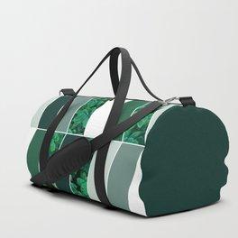 Green Herringbone #society6 #green #succulent Duffle Bag