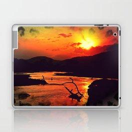 African River Sunset Leopard Laptop & iPad Skin