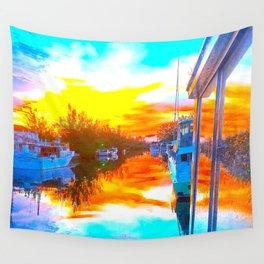 Island Sunrise Wall Tapestry