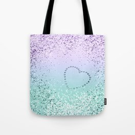 Sparkling MERMAID Girls Glitter Heart #1 #decor #art #society6 Tote Bag