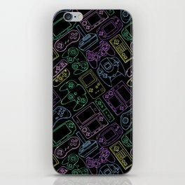 Video Game Controllers in Neon Colors iPhone Skin