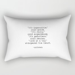 Follow the heart Rectangular Pillow