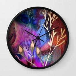 Flower Blues Wall Clock