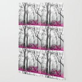 Princess Pink Forest Garden Wallpaper