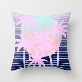 Hello Miami Moonlight Throw Pillow
