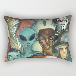 monsters watercolor squad Rectangular Pillow