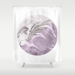 Marble Moon Shower Curtain