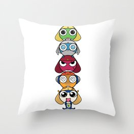 Leap Frogs in Space!! Throw Pillow