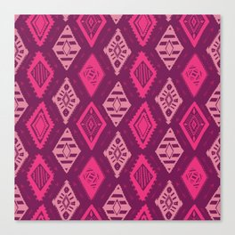 Pink Tribal Print Canvas Print