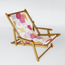 Coral Flowers Sling Chair