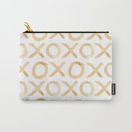 XOXO in Coffee Carry-All Pouch