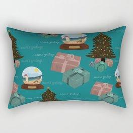 Aussie Christmas Blue Pattern Rectangular Pillow