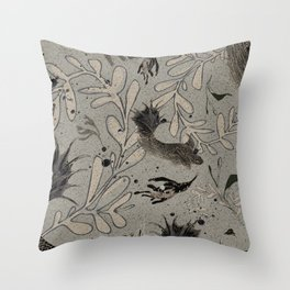 Lost. It's where she feels at ease. Throw Pillow